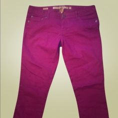 Skinny magenta jeans regular inseam 31 inches Brighten your war rib with these skinnies. Perfect with your favorite white tee! Mossimo Supply Co Jeans Skinny