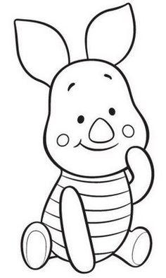 Baby winnie Pooh free coloring pages Cute Coloring Pages, Cartoon Coloring Pages, Disney Coloring Pages, Free Printable Coloring Pages, Free Coloring, Coloring Sheets, Coloring Books, Cute Disney Drawings, Cartoon Drawings