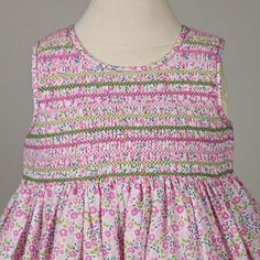 Spring / Summer smocked dress for Baby Jardin Traits in Liberty 100% ...