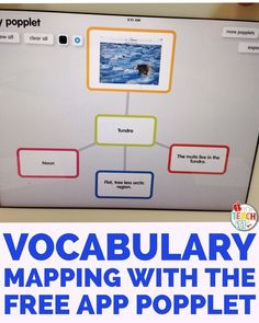 Mapping vocabulary words with the FREE Popplet app. Popplet is one of my must-have FREE iPad apps for the classroom. Check out this post for other fun ideas and activities to enhance student learning with this app in elementary.