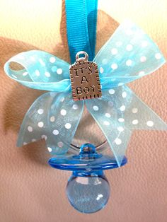 It's A Boy Pacifier Necklaces 12 Pieces by MarcenariPartyDecor, $17.99