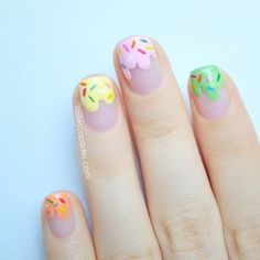 Ice cream nails - I would never have the patience for this, but it's cute!