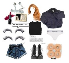 """at home watch scary movies"" by diamondinthesky13 ❤ liked on Polyvore featuring Neil Barrett and Calvin Klein Underwear"