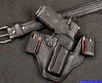 STI 1911 custom shark gun holster and belt inside waistband concealed carry Pocket Holster, Pistol Holster, Concealed Carry Holsters, Concealment Holsters, 1911 Pistol, 1911 Leather Holster, Custom Leather Holsters, Paddle Holster, Western Holsters