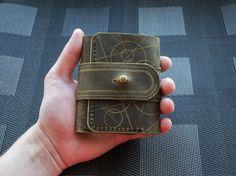 Компактный кошелек из кожи. моё, длиннопост, натуральная кожа, хобби, Своими руками, кошелек, кожа