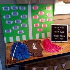 Football Themed Gender Reveal Gender Vote & A Football Themed Gender Reveal & Kate Aspen The post Football Themed Gender Reveal & Football Gender Reveal appeared first on Gender reveal ideas . Simple Gender Reveal, Gender Reveal Party Games, Pregnancy Gender Reveal, Gender Reveal Party Decorations, Gender Party, Baby Shower Gender Reveal, Reveal Parties, Gender Reveal Football, Football Baby