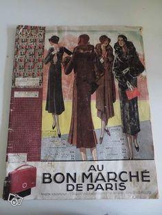 Ancien catalogue au bon marche de paris 1930 Collection Eure - leboncoin.fr