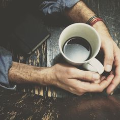 the journal, the bracelets, the coffee, the denim.