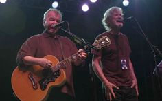 John Prine and Kris Kristofferson playing at the Bonnaroo Music Festival, Nashville, Tennesee in June 2010