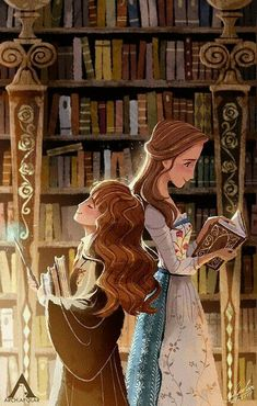 Emma Waston fan art as both Hermione Granger from Harry Potter and Belle from Beauty and the Beast. Both two loving young women who are known for their love of books! Arte Do Harry Potter, Harry Potter Memes, Harry Potter Fandom, Potter Facts, Fanart Harry Potter, Arte Disney, Disney Art, Disney Belle, Disney Stuff