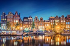 Amsterdam canal at night. Taking a mini cruise to Amsterdam is a great way to see the city. Visit Amsterdam, Amsterdam City, Amsterdam Travel, Amsterdam Netherlands, Amsterdam Photos, Places To Travel, Travel Destinations, Places To Visit, Travel Europe