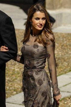 Princess Letizia of Spain attends the 2013 Cervantes Award ceremony at Alcala de Henares University in Madrid