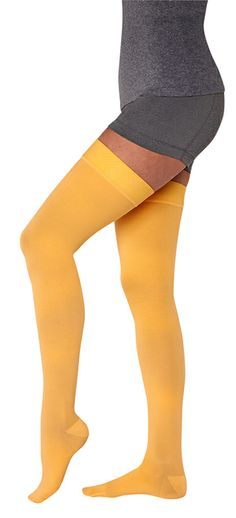 New 2014 Juzo Soft Dream Colors are here! Get these compression thigh highs in Mango