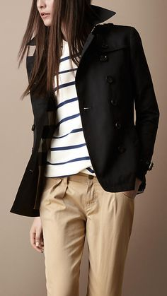 Burberry Short cotton trench coat