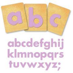 Ellison SureCut Die Set - Fruit Smoothie Lowercase Letters- 4 inch alphabet