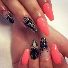 awesome 25 Fancy Ideas On Casket Nails - Trendy and Exclusive Check more at http://newaylook.com/best-ideas-on-casket-nails/