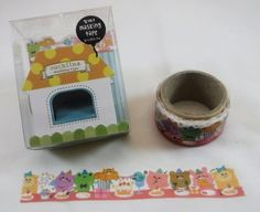Kawaii Japan Deco Masking Tape: Ouchinina Series - Animals Party Masking Tapes for Decoration Diy Crafts Planners Schedule Books Cake Alpaca