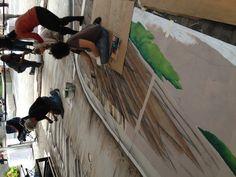 #Tracyleestum#3dchalkart #streetpainting #streetart#ATS#Grandesign#cadillac#AugmentedReality#Newyork