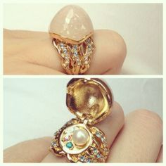 ISO: Disney couture Ariel statement ring In a size 6!  It opens to reveal a pearl.  I hope to pay less than retail !  I'm also interested in anything mermaid / little mermaid related. ☺️ Free People Jewelry Rings
