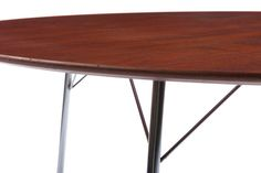 Arne Jacobsen Dining Table   From a unique collection of antique and modern dining room tables at https://www.1stdibs.com/furniture/tables/dining-room-tables/
