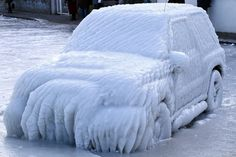 Frozen Car by Jean-Christophe Van Waes