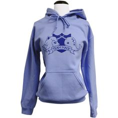 Narwhal Unicorn Hoodie - TEAM MAGIC Hooded Sweatshirt - Unisex Sizes... ($28) ❤ liked on Polyvore
