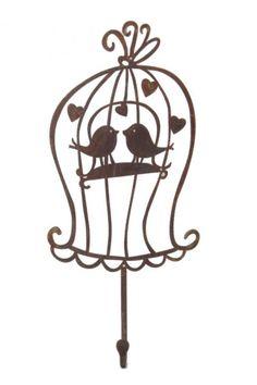 Gancho em ferro gaiola passarinhos apaixonados: http://www.metacampos.com.br/cabideiros/gancho-em-ferro-gaiola-passarinhos-apaixonados