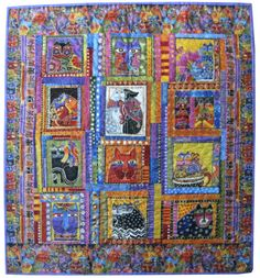 Wall Hanging Quilt in Laurel Burch Fanciful by Sieberdesigns, $68.00