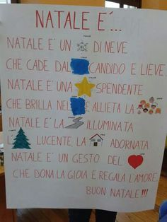 Poesia #Natale Winter Christmas, Christmas Time, Xmas, Learning Italian, Pre School, Holidays And Events, Pixel Art, Diy Gifts, Diy And Crafts