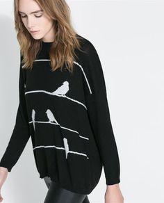 Image 5 of OVERSIZE JACQUARD SWEATER from Zara