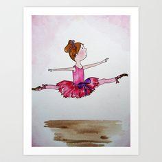 The Little Ballerina 2 Art Print by Natalie Murray - $18.00