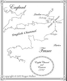 The map created for To Tame the Wind that will be a part of the book May Dover Calais, English Channel, London England, Map, Book, Location Map, Maps, Book Illustrations, Books