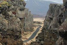 The mid-Atlantic Ridge in Iceland.