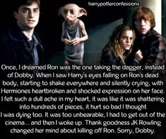 I don't understand how they couldn't save Dobby. They could have. It wasn't a magical dagger. They could have saved him.