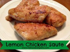 """One of the perks that came with my marriage was a whole lot of yummy new recipes! We affectionately refer to this Lemon Chicken Saute recipe as """"Grandma Slow Cooker Lemon Chicken, Chicken Saute, New Recipes, Dinner Recipes, Favorite Recipes, Yummy Recipes, Dinner Ideas, Meal Ideas, All You Need Is"""