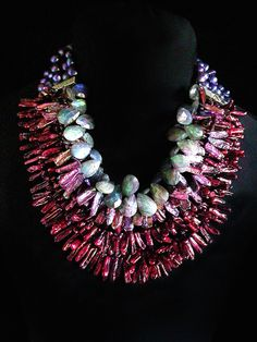 70. Gretchen Schields Collection. Garnets, Pearls & Labradorite.  www.gretchen-schields.com