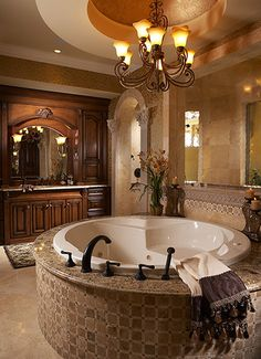Mediterranean Bathroom Design, Pictures, Remodel, Decor and Ideas Mediterranean Bathroom, Home, Dream Bathrooms, House Styles, House Design, Sweet Home, Home N Decor, Amazing Bathrooms, Interior