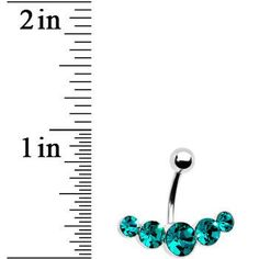 Product Details This ascending gem belly ring is the perfect blend of glamour and simplicity. Five gem navel ring in shining surgical steel. Curved barbell gem