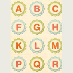 Lots and lots of printable alphabets on this Canon website. #alphabet #printables