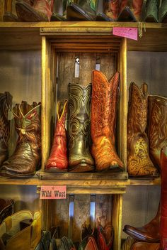 Vintage Cowboy Boots, Wild West Store, Wimberly, Texas.
