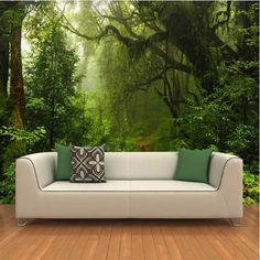Primeval Forest Photo Wall Mural for Home or Business 3D Wallpaper