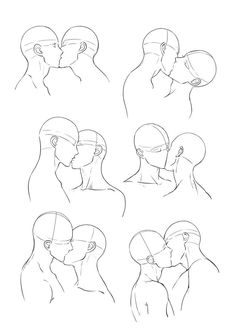 Figure drawing is challenging. Pencil Art Drawings, Art Drawings Sketches, Couple Drawings, Drawing Base, Manga Drawing, Body Drawing, Kissing Drawing, How To Draw Kissing, Anime Poses Reference