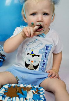 Look Whoos One Owl Boys First Birthday by AllRibbonedOut on Etsy, $20.00