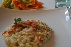 La Cucina di Stagione: Risotto ai fiori di zucca e triglie scottate