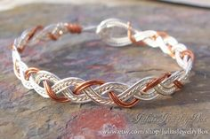 Braided Bracelet Silver and Copper Wire by JuliasJewelryBox, $20.00