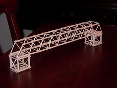 How to make a bridges toothpick  Im stuck at home the whole day and i got nothing to do. so i clean the house attic. i saw that there is 5 b...