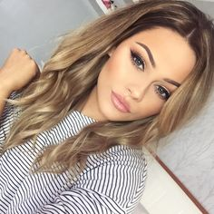 35 Simple Everyday Makeup Looks for Any Season; easy everyday makeup looks; natural makeup looks. Fall Hair Color For Brunettes, Fall Hair Colors, Wedding Makeup For Brunettes, Blonde For Brunettes, Blonde Hair For Fall, Wedding Makeup Blonde, Wedding Hair, Bridal Makeup For Blondes, Dark Blonde Hair Color