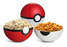 This Poké Ball Serving Bowl Set is perfect for snacks. You can also catch creatures with them if you want. Instead of Charmanders and Dratinis, use them for chips and dip.  Pokemon fans will want to throw these at their pets, but don't. Your snacks will go everywhere!    Poké Ball Serving Bowl