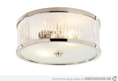 15 Silver Drum Flush Mount Ceiling Lights | Home Design Lover