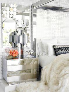 Hilfiger's Bedroom #Chrome #Mirrors #Design